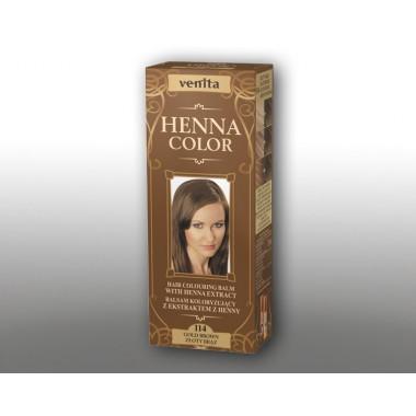 Красящий травяной бальзам VENITA Henna Color №114 Золотисто-коричневый  50 мл