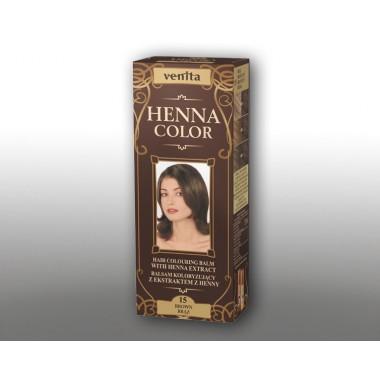 Красящий травяной бальзам VENITA Henna Color №15 Коричневый  50 мл