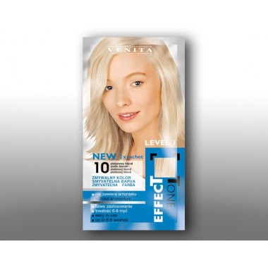Красящий шампунь VENITA EFFECTTONE № 10  Платиновий Блонд 2*25 мл