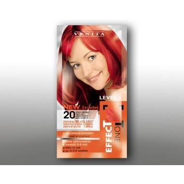 Красящий шампунь VENITA EFFECTTONE № 20 Светло красный  2*25 мл