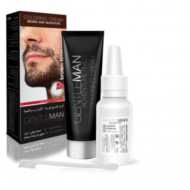Крем-краска для бороды и усов коричневая