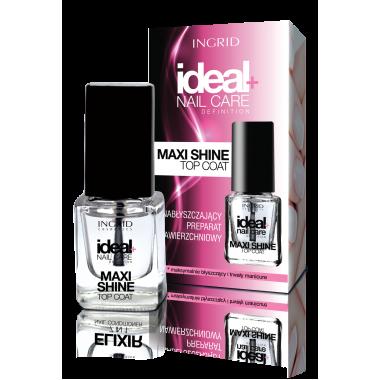 Закрепляющее покрытие для ногтей 3в1 Maxi Shine Top Coat Ingrid