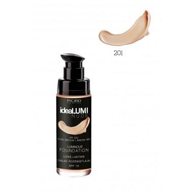 Рассветляющий тональный крем №201 Ideallumi Nude Ingrid
