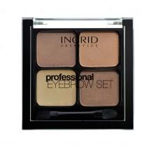 Профессиональные моделирующие тени для бровей 4 в 1 Ingrid