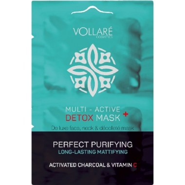 VOLLARE COSMETICS - MULTI-ACTIVE DETOX – САШЕ маска ANTI-OXIDANT   регенерирующая   2 шт*5 мл