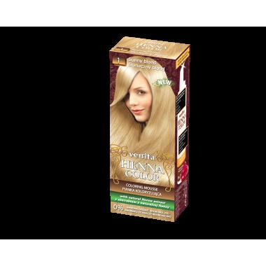 Красящий мусс VENITA HENNA COLOR  № 1 Солнечный блонд 75 мл