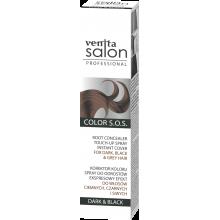 Корректор цвета корней VENITA SALON S.O.S BLACK для темных, черных и седых волос 75 мл