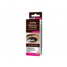 Краска-гель  для ресниц и бровей VENITA  TINT коричневая  30гр.