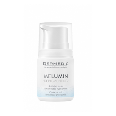 Крем Dermedic MELUMIN DEPIGMENTING  Антипигментный  , концентрированный на НОЧЬ 5 от темных пятен 55 мл