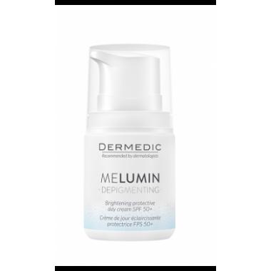 Крем Dermedic MELUMIN DEPIGMENTING  Антипигментный , осветляющий ДНЕВНОЙ  защита SPF 50+ 55 мл