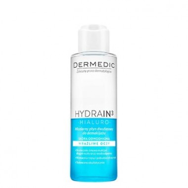 2х Фазная Мицеллярная жидкость H2O DERMEDIC HYDRAIN 3 HIALURO 115 мл